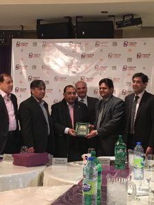 President Pakistan Canada Business Chamber, Mr. Shafqat Bashir Presenting Shield to Chairman TDAP, Mr. S.M Muneer